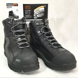 Timberland Pro Mens Black Heavy Work Boots 10
